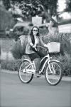 Miley on bike