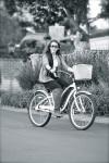 Miley on bike