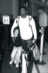 Alfonso and his daughter in LAX