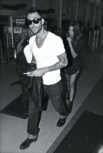 Adam Levine and his girlfriend depart