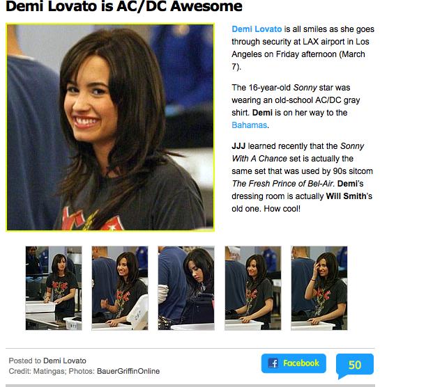 Demi Lovato JJr 3-7-09