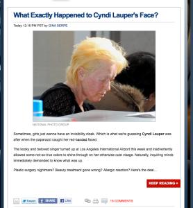 Cindy Lauper E!