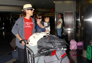 Anthony kids and Everly Bear arrive to LAX